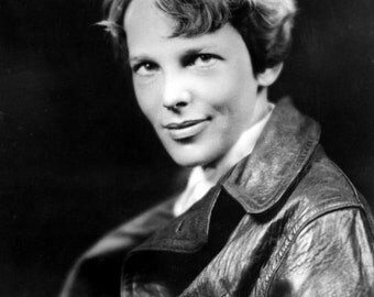 Aviatrix Amelia Earhart Historic 1937 Photo Reproduction Pilot Portrait