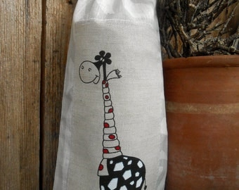 Christmas Sack Giraffe Gift Bag Gift Sack Giraffe Decor Santa Sack Christmas Gift Bag Christmas Gift Wrap Christmas Gift Bags Ideas