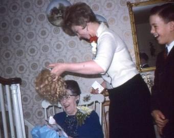 Vintage Kodachrome Slide..The Wiglet..1967..35mm Photo Slide..Vernacular Photo..Found Photo..Mixed Media Photo..Altered Art Photo..