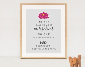 Lotus yoga printable wall art - Yoga decor - Lotus flower poster - INSTANT DOWNLOAD