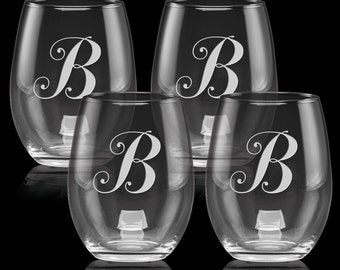 19 oz luminarc wine glasses set of 2 with personalized. Black Bedroom Furniture Sets. Home Design Ideas