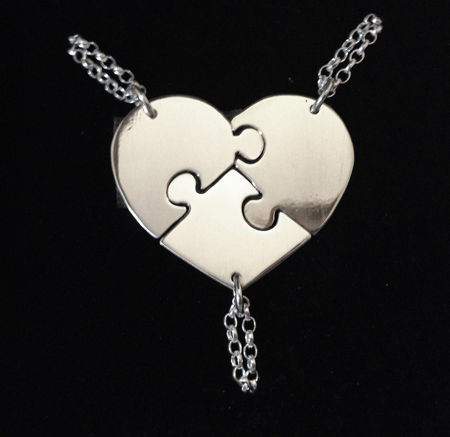 best friend necklaces for 3 by hannahjjewellery on etsy
