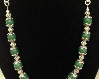 Light Green Adventurine Bead Necklace.