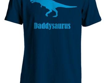 Dinosaur T-Shirt, Daddysaurus, T-Rex, Blue