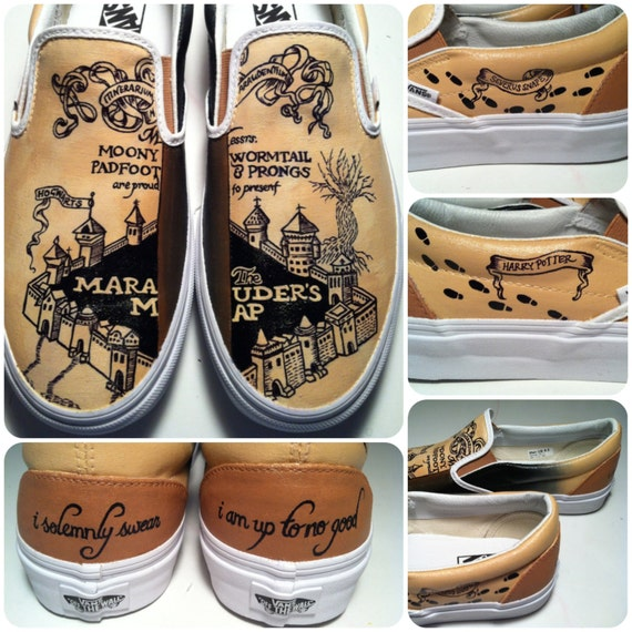 items similar to marauders map shoes on etsy