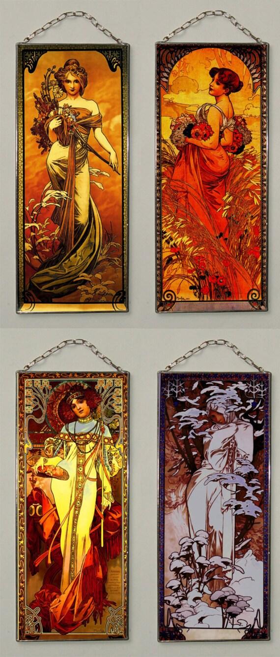 31 free Alphonse Mucha Spring Summer Autumn by Bohemiaimage