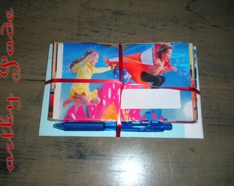 Children's Recycled Magazine Envelopes and Stationary Kit