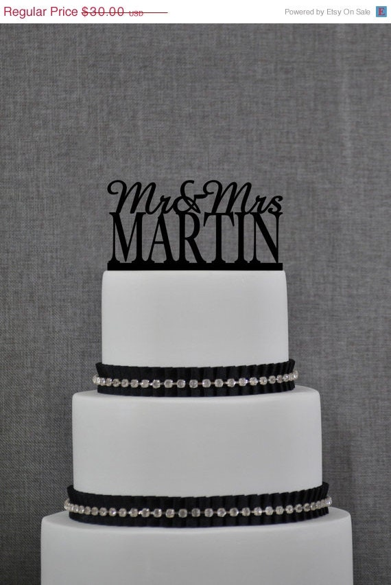 personalized last name wedding cake toppers mr and mrs cake topper personalized last name wedding cake 18266
