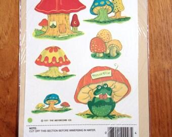 Vintage Trolly Stop Toad Mushroom Decals