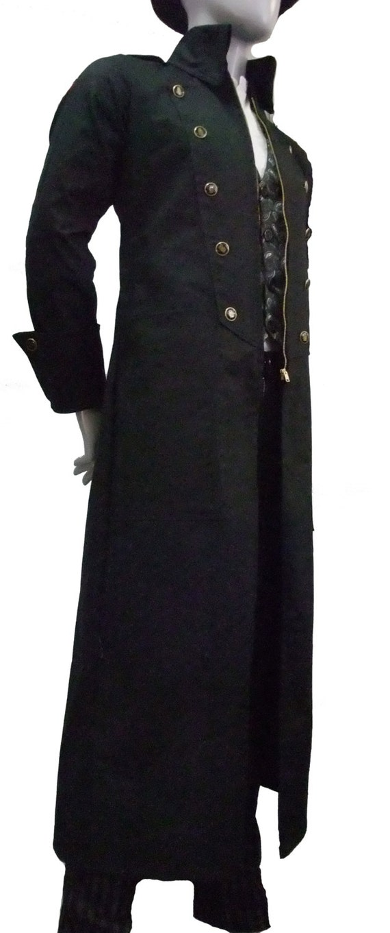 Steampunk Long Jacket Trench Coat By Ministryofstyle On Etsy
