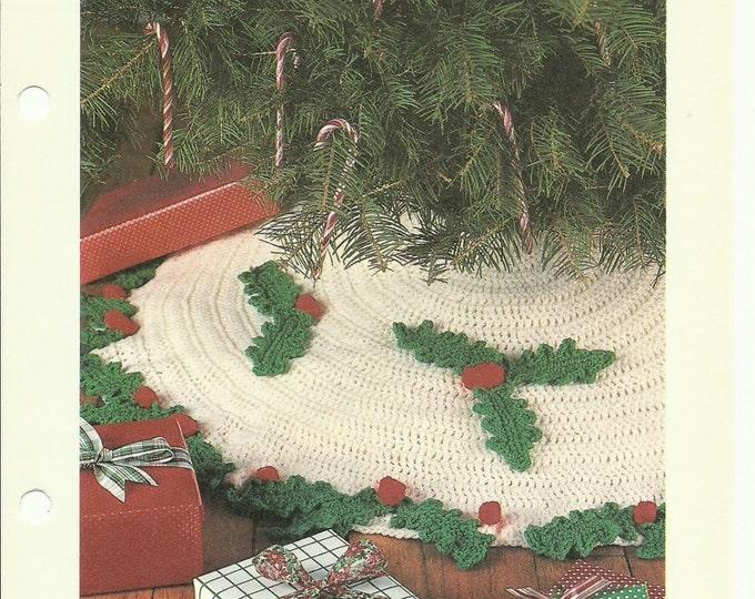 Christmas tree skirt crochet pattern download