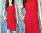 Womens Vintage, Red  Dress, Vintage Red Dress, 80s Red Dress, Laura Scott Dress, Plus Size Dress, Summer dress, Epsteam
