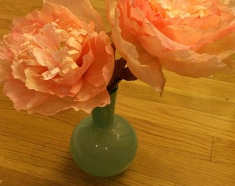 Peachy Keen ~~ Large Crepe Paper Flowers