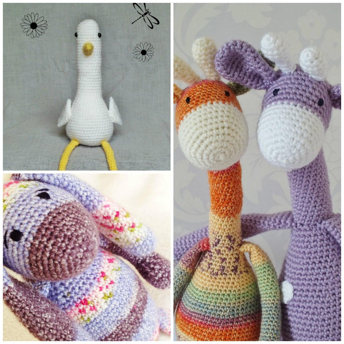 Amigurumi Yarn Pack : Crochet Amigurumi Toy PATTERN Pack Special Offer Giraffe Bunny