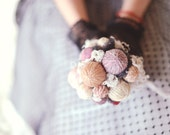knit wedding - rustic chic - wedding bouquet - alternative bouquet - lace bouquet - rustic bouquet - wedding accessories - bridal bouquet