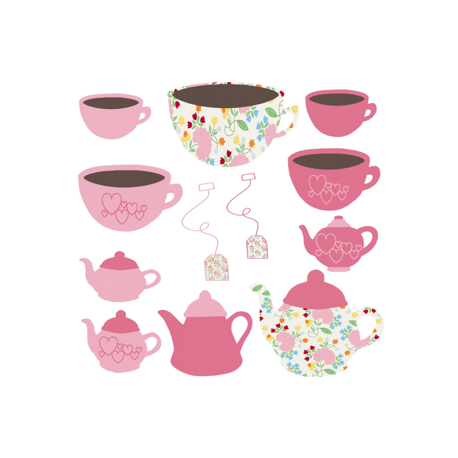 It's just a picture of Modest Tea Party Clip Art