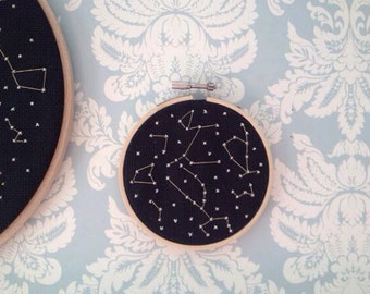 Mini Constellation Cross Stitch
