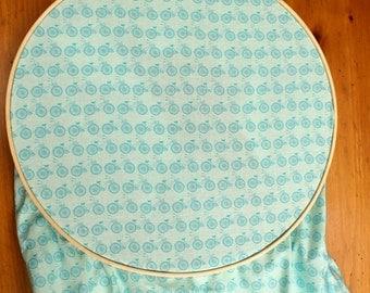 Blue Bicycle Crib Sheet - Aqua Nursery Bedding - Bike Baby Nursery - FItted Crib Sheet - Bicycle Baby Nursery - Cruiser Bike Baby Bedding