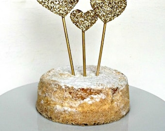 Gold Sparkle Cake Topper