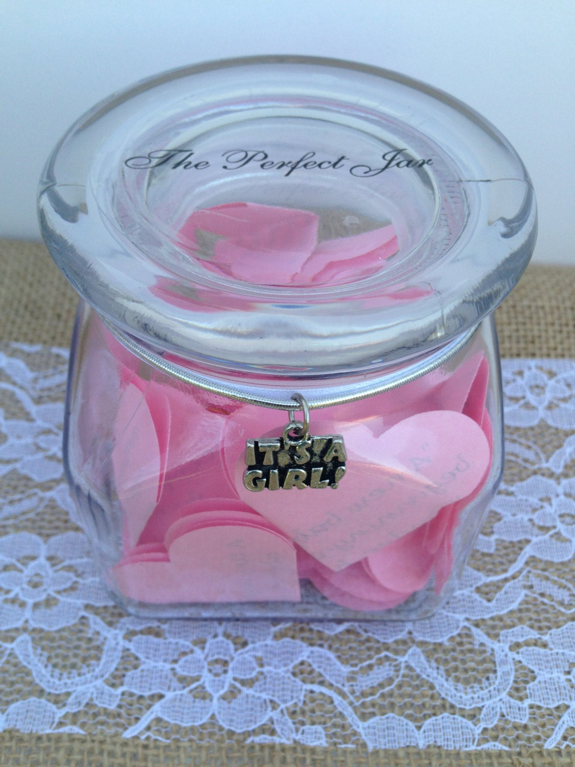 Baby Gift Jars : Baby blessings jar shower gift for girl by