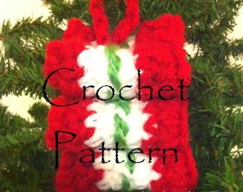 Christmas Ribbon Candy Ornament Crochet Pattern