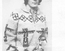 White Buffalo Pattern 17 Cowichan Native Canadian Sweater Knitting Pattern Digital PDF