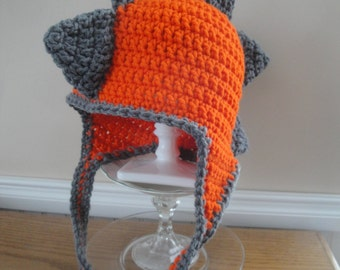 Handmade Dinosaur Earflap Hat / Boys Newborn Infant Baby Toddler Youth Teen / Crochet Animal Character Photo Prop / Your Choice of Colors