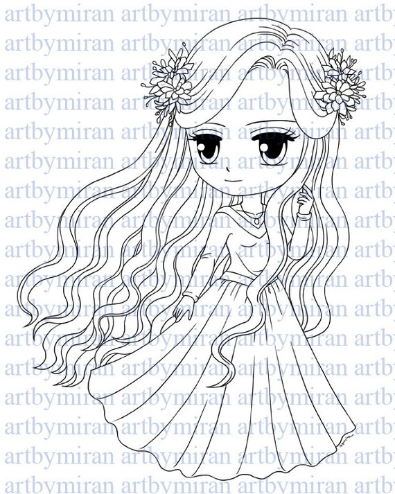 Digital StampFlorence Digi Stamp Coloring page by artbymiran