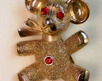 Teddy Bear Pendant and Pin Combination - 1823