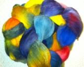 100% Merino - 3-oz+ bump Hand-Painted Roving