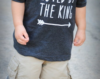 Toddler Loved By The King Vintage Heathered Fine Jersey T-Shirt