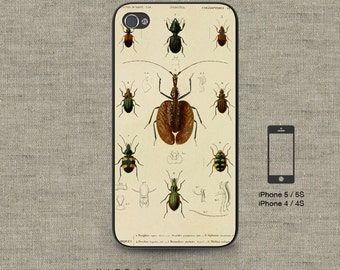 Cell Phone Case Iphone 5 / 5S / 5C 4 / 4S Samsung Galaxy S3 / S4 -Vintage Insects Design Number 120