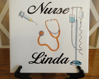 NURSE - Great gift. Personalized NAME Tile