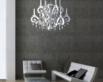 XXL Jewel Chandelier - White - Home & Party Decor