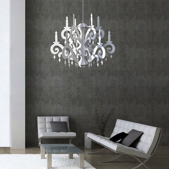 xxl jewel chandelier white home party decor. Black Bedroom Furniture Sets. Home Design Ideas