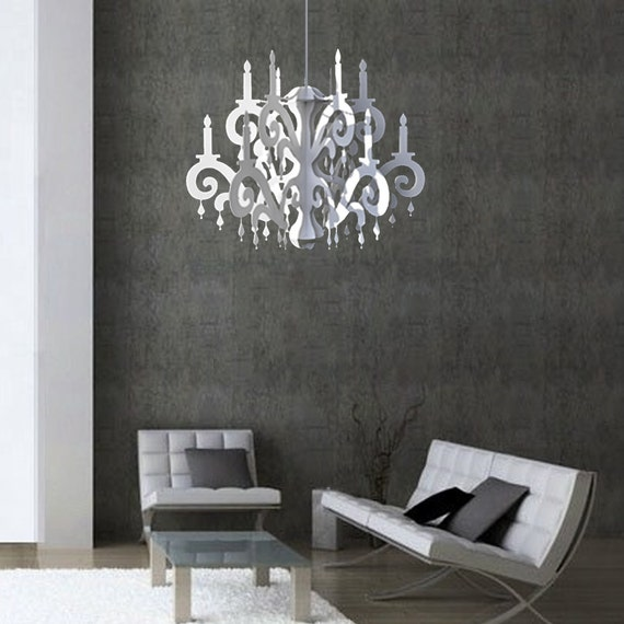 xxl jewel chandelier white home party decor. Black Bedroom Furniture Sets. Home Design Ideas