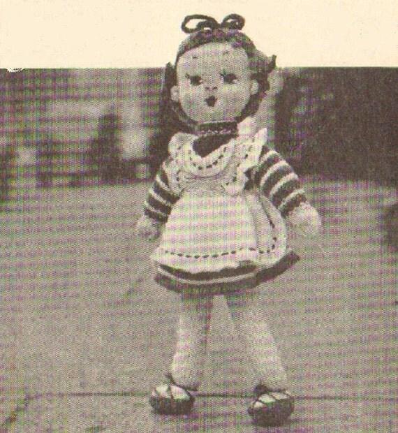 Vintage Knitting Patterns Toys : Belinda toy doll vintage knitting pattern PDF instant download