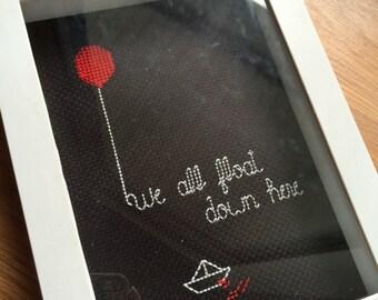 Stephen King's It minimalist cross stitch