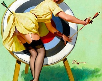 1950's Vintage Pin-Up Girl Poster 10