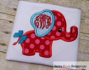 Elephant 34 Applique Embroidery Design - Elephant applique design - zoo applique design - circus applique design - baby applique design