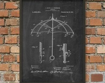 Umbrella Patent Wall Art Poster