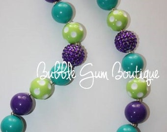 Monsters Inc. inspired bubble gum necklace