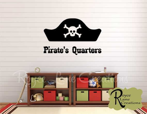 pirate decal pirate 39 s quarters pirate wall decal boys. Black Bedroom Furniture Sets. Home Design Ideas