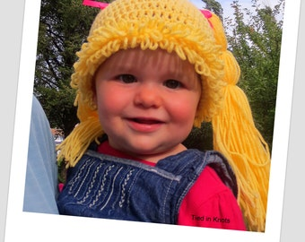 Cabbage Patch Doll Hat - Crochet Cabbage Patch Hat - Cabbage Patch Hair - Cabbage Patch Wig - Cabbage Patch Doll Crochet Hat - Cabbage Patch