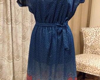 Vintage 1960's Sally Skellington Summer Dress Rockabilly Pin Up