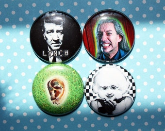 David Lynch Twin Peaks Eraserhead- One Inch Pinback Button Magnet Set