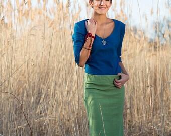 Pencil Skirt - Hemp and Organic Cotton Jersey Knee Length