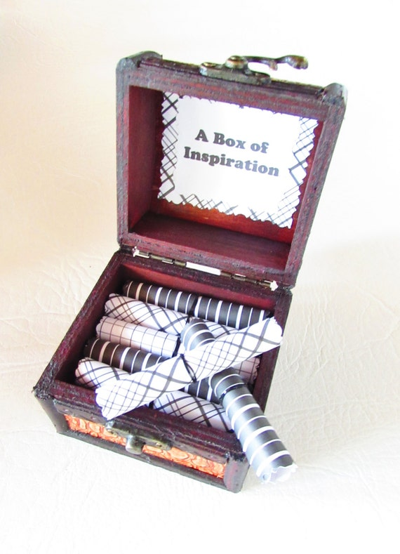 A Box of Inspiration! 22 motivational quotes in a wood scroll box. A personal & memorable graduation, good luck, birthday or holiday gift!