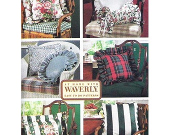 Butterick Pattern 6097 At Home with Waverly Eight Pillows Used