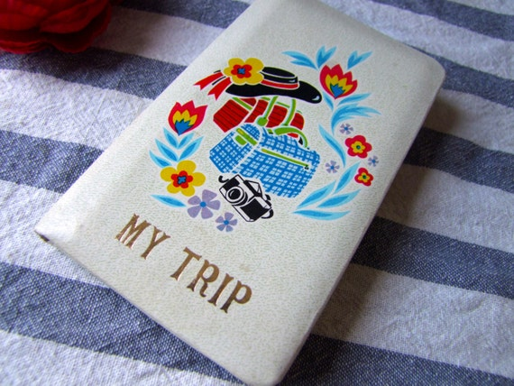 Retro Travel Journal/Diary - 1970's Stationary